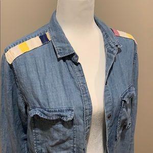RAILS vintage wash denim shirt size small